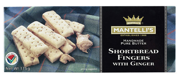VIP - shortbread fingers with ginger